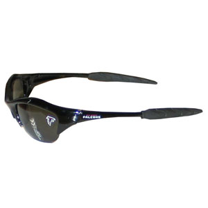 NFL Sunglasses - Atlanta Falcons - Our sporty looking NFL sunglasses have the sports team logo screen printed both sides of the frames. The sunglass arms feature rubber team colored accents.  Look great in our sports memorabilia while rooting for your favorite sports team. Officially licensed NFL product Licensee: Siskiyou Buckle .com
