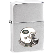 NFL Zippo Lighter - Jets Helmet - NFL Zippo Lighter with Sculpted and Enameled Helmet - New York Jets. Check out our entire line of  NFL merchandise! Officially licensed NFL product Licensee: Siskiyou Buckle Thank you for visiting CrazedOutSports.com