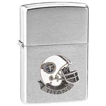 NFL Zippo Lighter - Titans Helmet - NFL Zippo Lighter with Sculpted and Enameled Helmet - Tennessee Titans. Officially licensed NFL product Licensee: Siskiyou Buckle .com