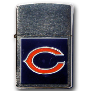 Large Emblem NFL Chicago Bears Zippo - Chicago Bears - Show off your Chicago Bears spirit with our new larger-Chicago Bears emblem Zippo Lighters. All of our Chicago Bears emblems are made from expertly crafted, three-dimensional pewter. Check out our wide selection of  Zippo Lighters! Officially licensed NFL product Licensee: Siskiyou Buckle .com