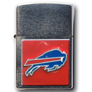Large Emblem NFL Zippo - Buffalo Bills - Show off your team spirit with our new larger-emblem Zippo Lighters. All of our emblems are made from expertly crafted, three-dimensional pewter. Check out our wide selection of  Zippo Lighters! Officially licensed NFL product Licensee: Siskiyou Buckle Thank you for visiting CrazedOutSports.com