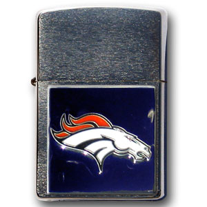 Large Emblem NFL Denver Broncos Zippo - Denver Broncos - Show off your Denver Broncos spirit with our new larger-Denver Broncos emblem Zippo Lighters. All of our Denver Broncos emblems are made from expertly crafted, three-dimensional pewter. Check out our wide selection of Zippo Lighters! Officially licensed NFL product Licensee: Siskiyou Buckle Thank you for visiting CrazedOutSports.com