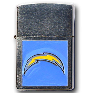 Large Emblem NFL Zippo - San Diego Chargers - Show off your team spirit with our new larger-emblem Zippo Lighters. All of our emblems are made from expertly crafted, three-dimensional pewter. Check out our wide selection of  Zippo Lighters! Officially licensed NFL product Licensee: Siskiyou Buckle .com