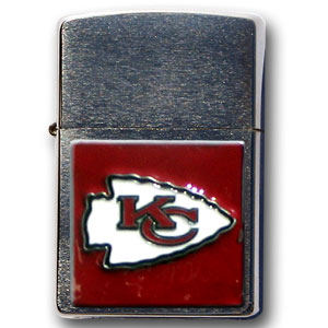 Large Emblem NFL Zippo - Kansas City Chiefs - Show off your team spirit with our new larger-emblem Zippo Lighters. All of our emblems are made from expertly crafted, three-dimensional pewter. Check out our wide selection of  Zippo Lighters! Officially licensed NFL product Licensee: Siskiyou Buckle Thank you for visiting CrazedOutSports.com