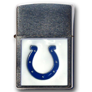 Large Emblem NFL Zippo - Indianapolis Colts - Show off your team spirit with our new larger-emblem Zippo Lighters. All of our emblems are made from expertly crafted, three-dimensional pewter. Check out our wide selection of  Zippo Lighters! Officially licensed NFL product Licensee: Siskiyou Buckle Thank you for visiting CrazedOutSports.com