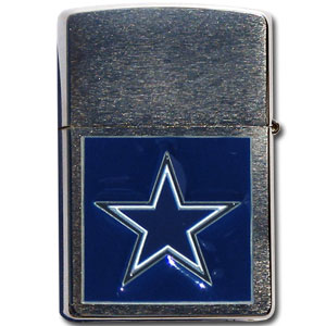 Large Emblem NFL Zippo - Dallas Cowboys - Show off your team spirit with our new larger-emblem Zippo Lighters. All of our emblems are made from expertly crafted, three-dimensional pewter. Check out our wide selection of  Zippo Lighters! Officially licensed NFL product Licensee: Siskiyou Buckle .com