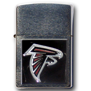 Large Emblem NFL Zippo - Atlanta Falcons - Show off your team spirit with our new larger-emblem Zippo Lighters. All of our emblems are made from expertly crafted, three-dimensional pewter. Check out our wide selection of  Zippo Lighters! Officially licensed NFL product Licensee: Siskiyou Buckle .com
