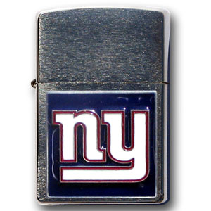 Large Emblem NFL Zippo - New York Giants - Show off your team spirit with our new larger-emblem Zippo Lighters. All of our emblems are made from expertly crafted, three-dimensional pewter. Check out our wide selection of  Zippo Lighters! Officially licensed NFL product Licensee: Siskiyou Buckle .com