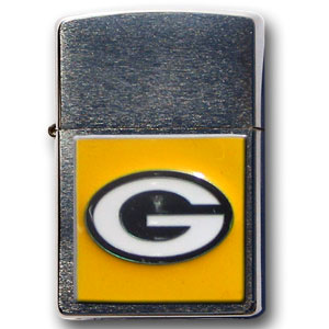 Large Emblem NFL Zippo - Green Bay Packers - Show off your team spirit with our new larger-emblem Zippo Lighters. All of our emblems are made from expertly crafted, three-dimensional pewter. Check out our wide selection of  Zippo Lighters! Officially licensed NFL product Licensee: Siskiyou Buckle Thank you for visiting CrazedOutSports.com