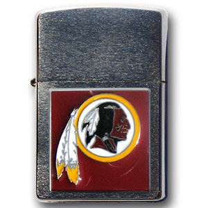 Large Emblem NFL Zippo - Washington Redskins - Show off your team spirit with our new larger-emblem Zippo Lighters. All of our emblems are made from expertly crafted, three-dimensional pewter. Check out our wide selection of  Zippo Lighters! Officially licensed NFL product Licensee: Siskiyou Buckle Thank you for visiting CrazedOutSports.com