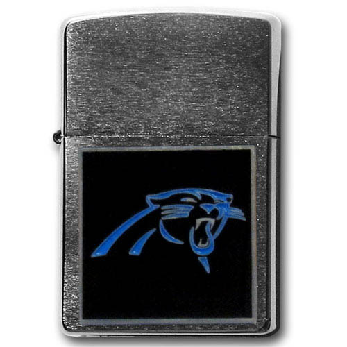 Large Emblem NFL Zippo - Carolina Panthers - Show off your team spirit with our new larger-emblem Zippo Lighters. All of our emblems are made from expertly crafted, three-dimensional pewter. Check out our wide selection of  Zippo Lighters! Officially licensed NFL product Licensee: Siskiyou Buckle .com