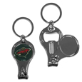 Minnesota Wild® Nail Care/Bottle Opener Key Chain