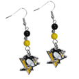 Pittsburgh Penguins® Fan Bead Dangle Earrings