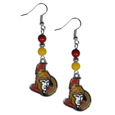 Ottawa Senators® Fan Bead Dangle Earrings