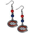 Montreal Canadiens® Fan Bead Dangle Earrings