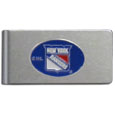 New York Rangers® Brushed Metal Money Clip