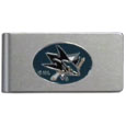 San Jose Sharks® Brushed Metal Money Clip