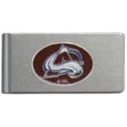Colorado Avalanche® Brushed Metal Money Clip