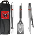 Washington Capitals® 3 pc Stainless Steel BBQ Set with Bag