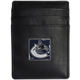 Vancouver Canucks® Leather Money Clip/Cardholder Packaged in Gift Box