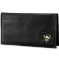 Pittsburgh Penguins® Deluxe Leather Checkbook Cover