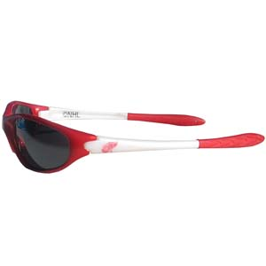 Redwings Sunglasses - Our NHL team sunglasses are the team logo screen printed on one side of the frames and the team logo on the other side of the frames. The sunglass arms feature rubber team colored accents. Thank you for visiting CrazedOutSports