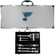 St. Louis Blues® 8 pc Stainless Steel BBQ Set w/Metal Case