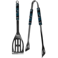 San Jose Sharks  2 pc Steel BBQ Tool Set - This stainless steel 2 pc BBQ set is a tailgater's best friend. The colorful and large team graphics let's everyone know you are a fan! The set in includes a spatula and tongs with the San Jose Sharks  proudly display on each tool.