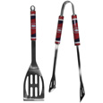 Montreal Canadiens 2 pc Steel BBQ Tool Set - This stainless steel 2 pc BBQ set is a tailgater's best friend. The colorful and large team graphics let's everyone know you are a fan! The set in includes a spatula and tongs with the Montreal Canadiens proudly display on each tool.