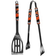 Philadelphia Flyers 2 pc Steel BBQ Tool Set - This stainless steel 2 pc BBQ set is a tailgater's best friend. The colorful and large team graphics let's everyone know you are a fan! The set in includes a spatula and tongs with the Philadelphia Flyers proudly display on each tool.