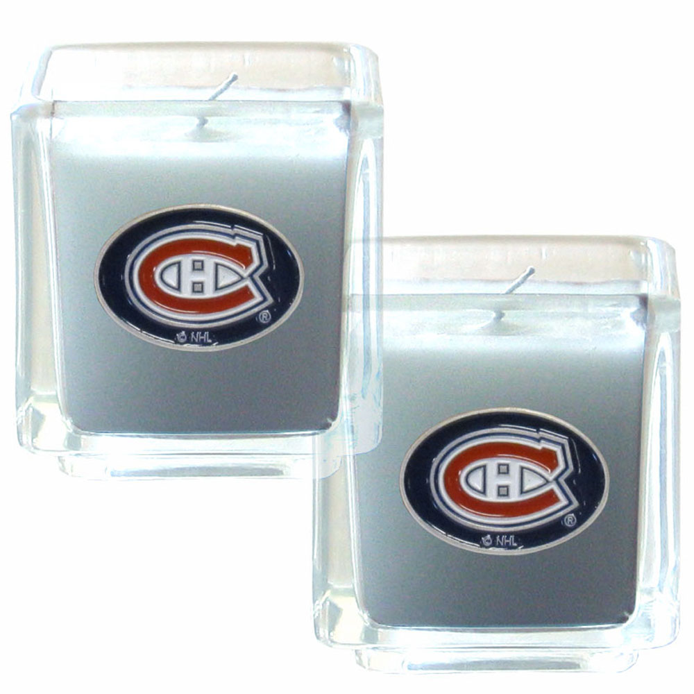 Montreal Canadiens® Scented Candle Set - Our candle set features 2 lightly vanilla scented candles with fully cast metal Montreal Canadiens® emblems that have an enameled team color finish.