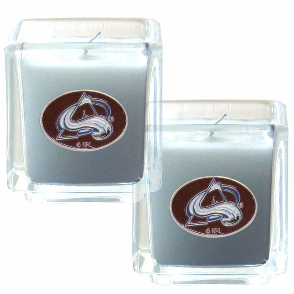 Colorado Avalanche® Scented Candle Set - Our candle set features 2 lightly vanilla scented candles with fully cast metal Colorado Avalanche® emblems that have an enameled team color finish.