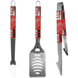 Detroit Red Wings 3 pc Tailgater BBQ Set - This Detroit Red Wings 3 pc Tailgater BBQ Set really catches your eye with flashy chrome accents and vivid Detroit Red Wings digital graphics. The 420 grade stainless steel tools are tough, heavy-duty tools that will last through years of tailgating fun. The Detroit Red Wings 3 pc Tailgater BBQ Set includes a spatula with a bottle opener and sharp serated egde, fork and tongs.