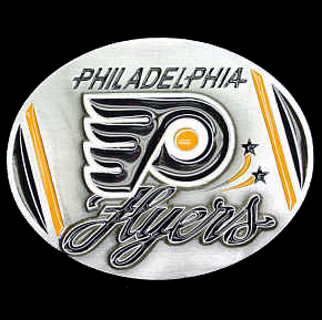NHL Belt Buckle - Philadelphia Flyers  - This Philadelphia Flyers finely sculpted and enameled Philadelphia Flyers belt buckle contains exceptional 3D detailing. Siskiyou's unique Philadelphia Flyers buckle designs often become collector's items and are unequaled in craftsmanship. Check out our entire stock of  NHL Philadelphia Flyers merchandise!
