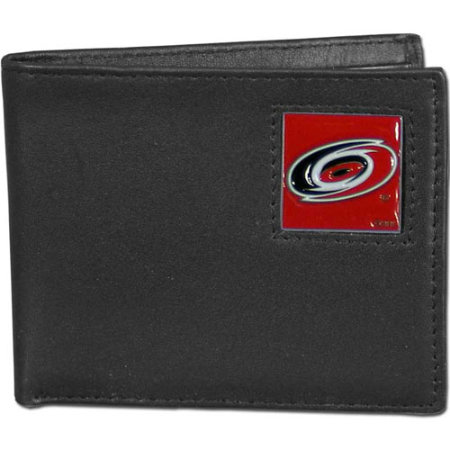 Carolina Hurricanes NHL Bifold Wallet   - Officially licensed Carolina Hurricanes NHL Bi-fold wallet is made of high quality fine grain leather and includes credit card slots and photo sleeves. Carolina Hurricanes logo is sculpted and enameled with fine detail on the front panel. Thank you for visiting CrazedOutSports