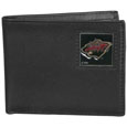 Minnesota Wild Leather Bi-fold Wallet - Officially licensed Minnesota Wild fine grain leather bi-fold wallet features numerous card slots, large billfold pocket and flip up window ID slot. This quality Minnesota Wild wallet has an enameled Minnesota Wild emblem on the front of the wallet. The Minnesota Wild wallet is packaged in a gift box. Thank you for visiting CrazedOutSports