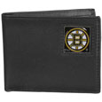 Boston Bruins Leather Bi-fold Wallet - Officially licensed Boston Bruins fine grain leather bi-fold wallet features numerous card slots, large billfold pocket and flip up window ID slot. This quality Boston Bruins wallet has an enameled Boston Bruins emblem on the front of the wallet. The Boston Bruins wallet is packaged in a gift box. Thank you for visiting CrazedOutSports