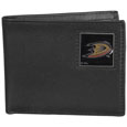 Anaheim Ducks Leather Bi-fold Wallet - Officially licensed Anaheim Ducks fine grain leather bi-fold wallet features numerous card slots, large billfold pocket and flip up window ID slot. This quality Anaheim Ducks wallet has an enameled Anaheim Ducks emblem on the front of the wallet. The Anaheim Ducks wallet is packaged in a gift box. Thank you for visiting CrazedOutSports