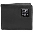Los Angeles Kings Leather Bi-fold Wallet - Officially licensed Los Angeles Kings fine grain leather bi-fold wallet features numerous card slots, large billfold pocket and flip up window ID slot. This quality Los Angeles Kings wallet has an enameled Los Angeles Kings emblem on the front of the wallet. The Los Angeles Kings wallet is packaged in a gift box. Thank you for visiting CrazedOutSports