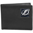 Tampa Bay Lightning Leather Bi-fold Wallet - Officially licensed Tampa Bay Lightning fine grain leather bi-fold wallet features numerous card slots, large billfold pocket and flip up window ID slot. This quality Tampa Bay Lightning wallet has an enameled Tampa Bay Lightning emblem on the front of the wallet. The Tampa Bay Lightning wallet is packaged in a gift box. Thank you for visiting CrazedOutSports