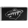 Minnesota Wild® Black and Steel Money Clip