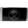 Buffalo Sabres® Black and Steel Money Clip