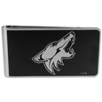 Arizona Coyotes® Black and Steel Money Clip
