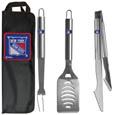 New York Rangers® 3 pc Stainless Steel BBQ Set with Bag