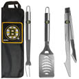 Boston Bruins® 3 pc Stainless Steel BBQ Set with Bag