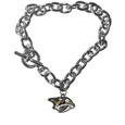 Nashville Predators  Charm Chain Bracelet - Our classic single charm bracelet is a great way to show off your team pride! The 7.5 inch large link chain features a high polish Nashville Predators  charm and features a toggle clasp which makes it super easy to take on and off.