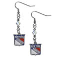 New York Rangers Crystal Dangle Earrings - NHL New York Rangers crystal dangle earrings are the perfect accessory for your game day outfit! The New York Rangers crystal dangle earrings are approximately 1.5 inches long and feature an iridescent crystal bead and nickel free chrome New York Rangers charm on nickel free, hypoallergenic fishhook posts. Thank you for visiting CrazedOutSports