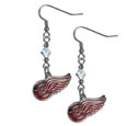 Detroit Red Wings Crystal Dangle Earrings - Our NHL Detroit Red Wings Crystal Dangle Earrings are the perfect accessory for your game day outfit! The Detroit Red Wings Crystal Dangle Earrings are approximately 1.5 inches long and feature an iridescent crystal bead and nickel free chrome Detroit Red Wings charm on nickel free, hypoallergenic fishhook posts. Thank you for visiting CrazedOutSports