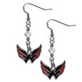 Washington Capitals Crystal Dangle Earrings - These NHL Washington Capitals Crystal Dangle Earrings are the perfect accessory for your Washington Capitals game day outfit! The Washington Capitals Crystal Dangle Earrings are approximately 1.5 inches long and feature an iridescent crystal bead and nickel free chrome Washington Capitals charm on nickel free, hypoallergenic fishhook posts. Thank you for visiting CrazedOutSports