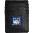 New York Rangers Leather Money Clip/Card holder - This Officially licensed NHL New York Rangers Leather Money Clip/Card holder won't make you choose between paper or plastic because they stow both easily. Features a sculpted and enameled New York Rangers emblem on the front of the Leather Money Clip/Card holder. The New York Rangers Leather Money Clip/Card holder is packaged in a gift box. Thank you for visiting CrazedOutSports